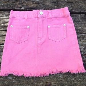 The Children's Place Pink Denim Fringe Skirt 5